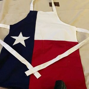 Texas Flag Chefs BBQ Grilling Apron One Pocket